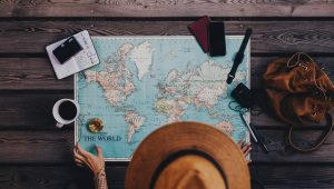 Destination marketing trends Millennial and a map